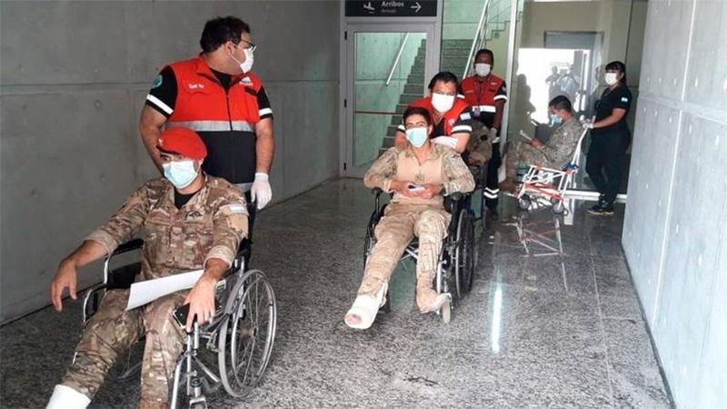 Los soldados terminaron en el hospital