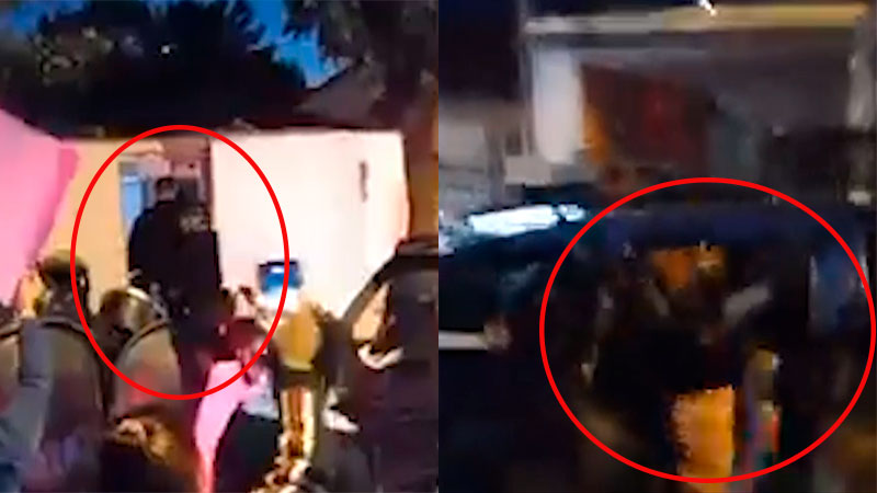 Video: Tras disturbios en la marcha, trasladaron a la mamá de bebita fallecida