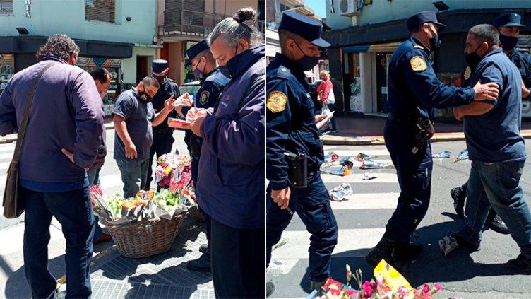 Video: insultos y agresiones en decomiso de flores a un vendedor ambulante