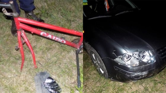 Ciclista que circulaba por la ruta falleció tras ser atropellado por un auto
