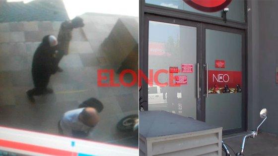 Video del asalto en sala de juegos: el momento en que ingresan los delincuentes