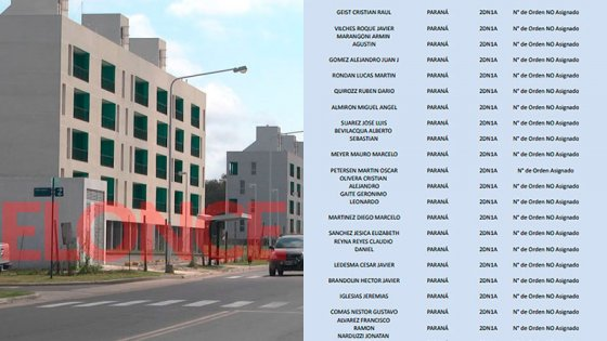 Departamentos del Procrear en Paraná: la lista de beneficiados en el sorteo