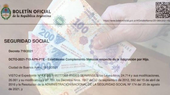 El Gobierno estableció un bono para las asignaciones familiares: el decreto