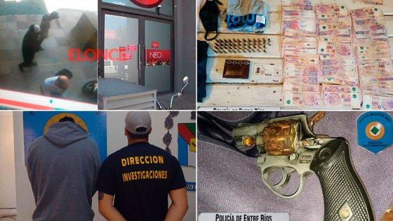 Asalto a sala de juegos: resultado de los allanamientos y vínculos del detenido