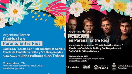 Los Totora estarán este domingo en el Anfiteatro de Paraná con entrada gratuita