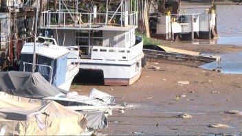 Histórica bajante: El río Paraná está por debajo de un metro