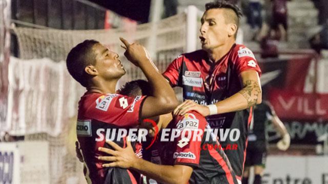 Marcos Quiroga marcó el primer gol del Rojinegro.
