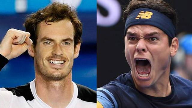 Andy Murray y Milos Raonic están en Semifinales del primer Grand Slam del año.
