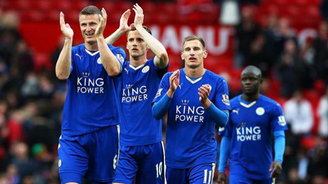 Los jugadores de Leicester vieron el partido y festejaron en la casa de Vardy.
