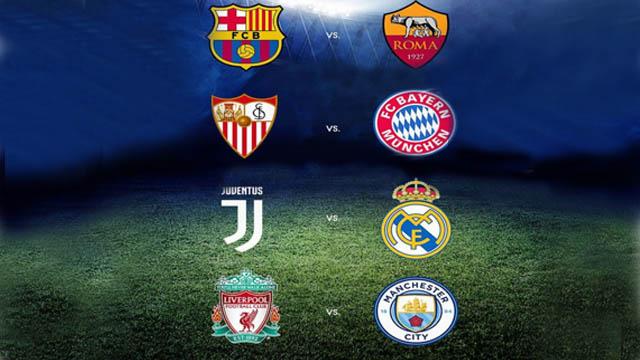 Todos los cruces de Cuartos de Final de la Liga de Campeones de Europa.