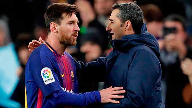 Messi le dedicó un mensaje de despedida a Valverde.