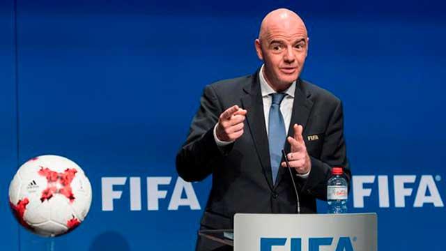 Infantino es presidente de la FIFA desde el 2016.