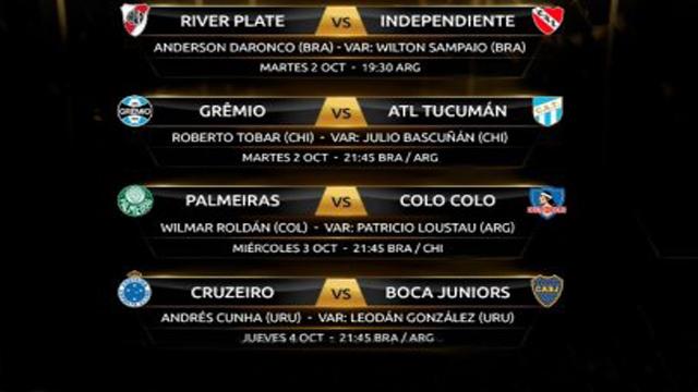 El cronograma completo de Cuartos de Final de la copa Libertadores.
