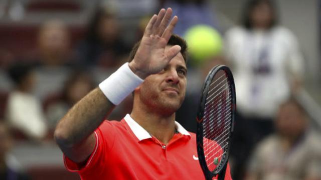 Nishikori abandonó y Juan Martín Del Potro es número 4 del mundo sin jugar.
