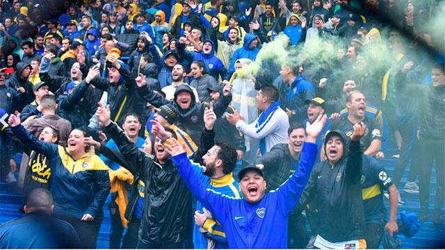 Los hinchas de Boca celebran su día.