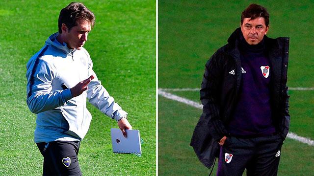 Marcelo Gallardo y Guillermo Barros Schelotto aún no dan muchos indicios.