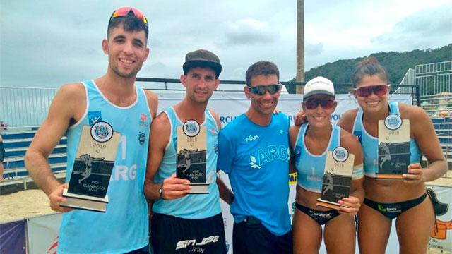 Azaad y Gallay hicieron podio en el circuito Sudamericano de Vóley de Playa.