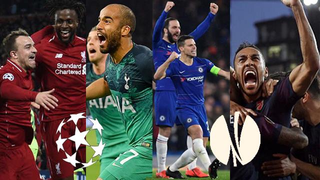 Cuatro equipos de la Premier League van por los títulos de la UEFA.