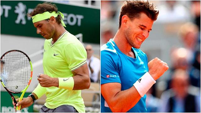 Rafael Nadal vs Dominic Thiem.