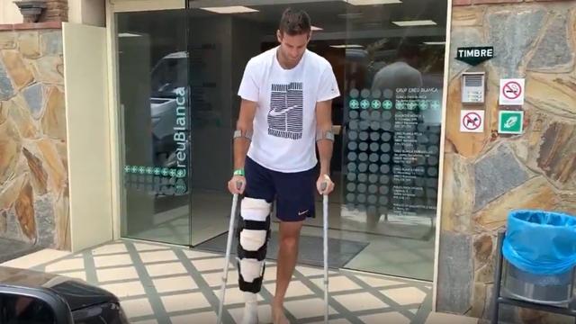 Delpo se retiró de la clínica española.
