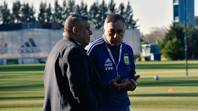Tapia acompaño a Borrello en AFA.
