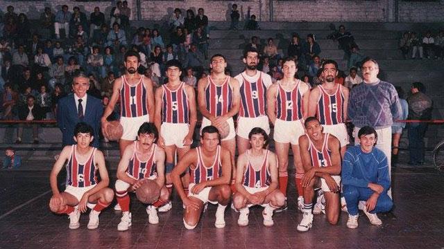 Plantel de Peñarol de Rosario del Tala 1989.