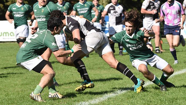 El CAE logró dos triunfos ante el Verde. (Foto: www.tercertiemporrugby.com.ar)