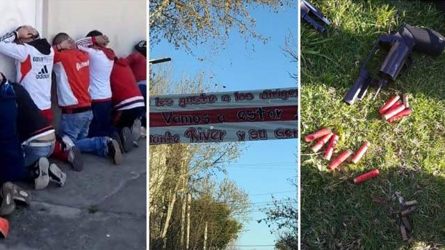 Detuvieron a barras de River con armas antes del partido ante Godoy Cruz.