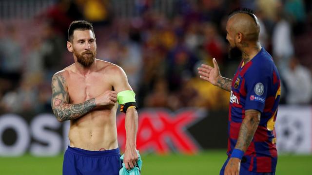 Messi pudo completar todo el partido en Barcelona.