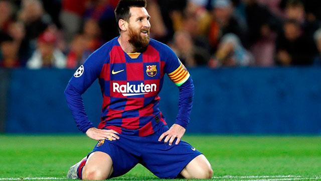 Messi tuvo una noche negra en el Camp Nou.