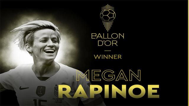 Rapinoe se transformó en la segunda ganadora del trofeo en la historia.
