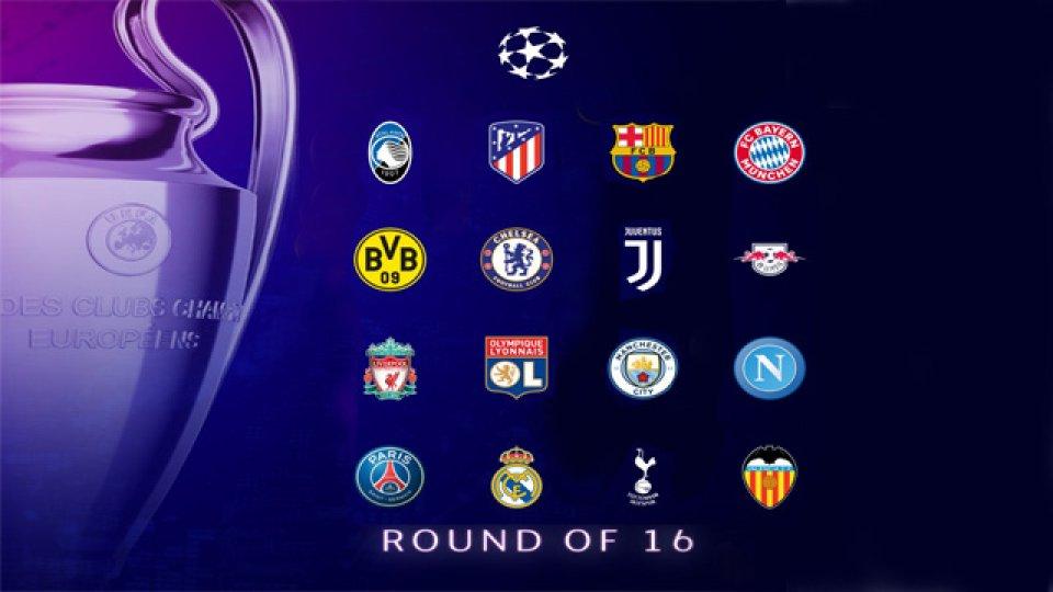Los 16 equipos que irán por el título en la Liga de Campeones de Europa.