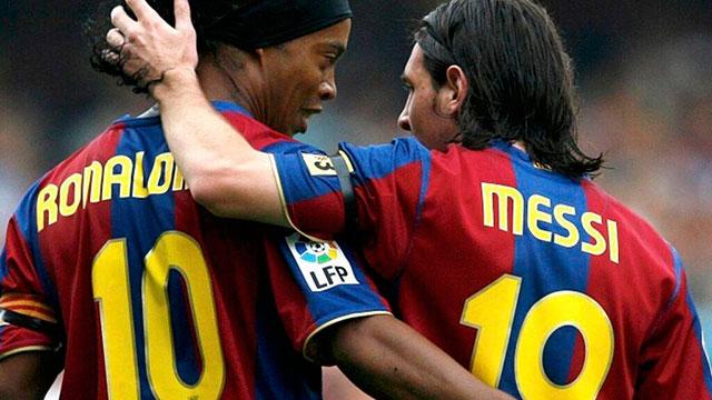 """""""Messi no es el mejor de la historia, sí de su época"""", afirmó Ronaldinho."""