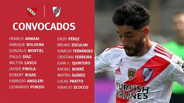 El mariagrandense Casco sería titular como volante en el Millonario.
