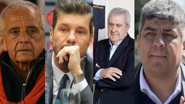 La dirgencia de los grandes del futol argentino coinciden en su rechazo a Macri.