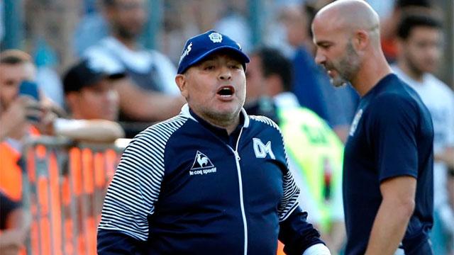 Maradona lamentó el 1 a 1 ante Patrón.