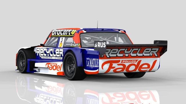 El flamante diseño del auto de Werner en el TC.