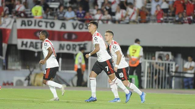 Superliga: En el Monumental, River derrota a Banfield 1 a 0 y se afirma arriba