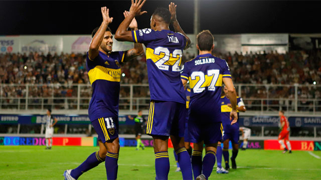 Boca goleó 4-0 a Central Córdoba y no se baja de la lucha por el título