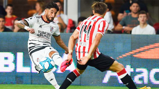 River le ganó 2-0 a Estudiantes y se mantiene firme en la punta de la Superliga.