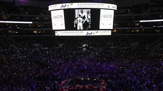 Cerca de 20 mil personas se reunieron para el último homenaje a Kobe y Gianna.