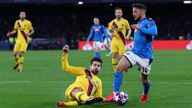 Barcelona reaccionó y empata 1 a 1 ante Napoli por la Champions League