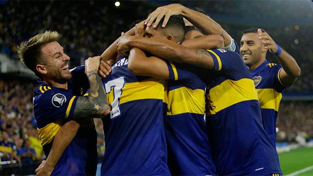 Boca derrotó a Independiente Medellín por la Copa Libertadores.