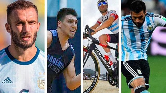 Los deportistas argentinos contagiados por Coronavirus.