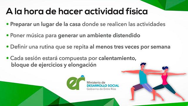 """""""Ejercicios en casa"""", la propuesta de la Secretaría de Deportes de la Provincia."""