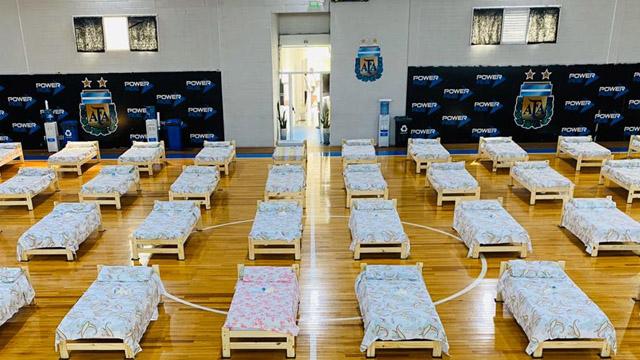 Video: Así quedó el predio de AFA para utilizarlo como hospital de campaña