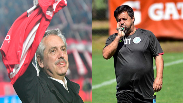 """""""Los hinchas de Argentinos tenemos una deuda con Caruso"""", dijo Fernpandez."""