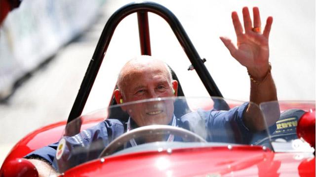 Stirling Moss, el ex piloto que brilló en los inicios de la Fórmula 1.