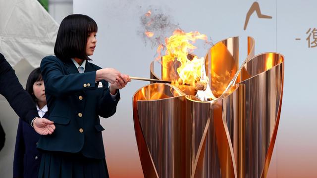 La llama olímpica permanecerá en Japón hasta el año que viene.