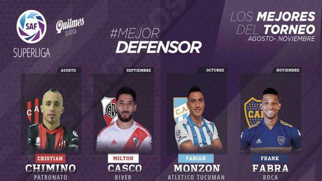 El mariagrandense Casco y Chimino entre los mejores del la SAF 2019/20.